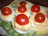 Plněná vajíčka recept
