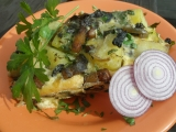 Radoušovy houbové brambory recept