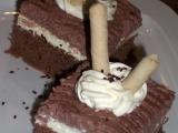 Kakaové řezy s pudinkovou a pařížskou šlehačkou recept ...