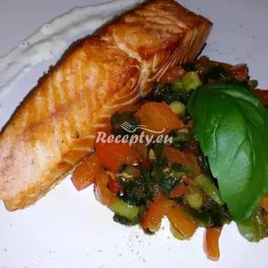Losos s bylinkami recept  ryby