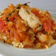 Rajčatová rýže s krůtím masem recept