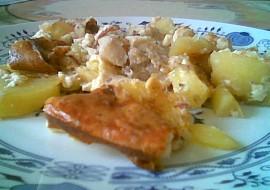 Rybí filé zapečené s bramborem, houbami a zázvorem recept ...