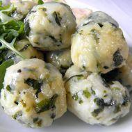 Tvarohovo-špenátové noky recept