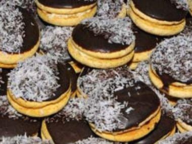 DIA  Kokosové piškoty s čokoládou