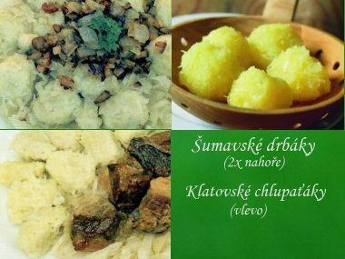 Knedle ze syrových i vařených brambor