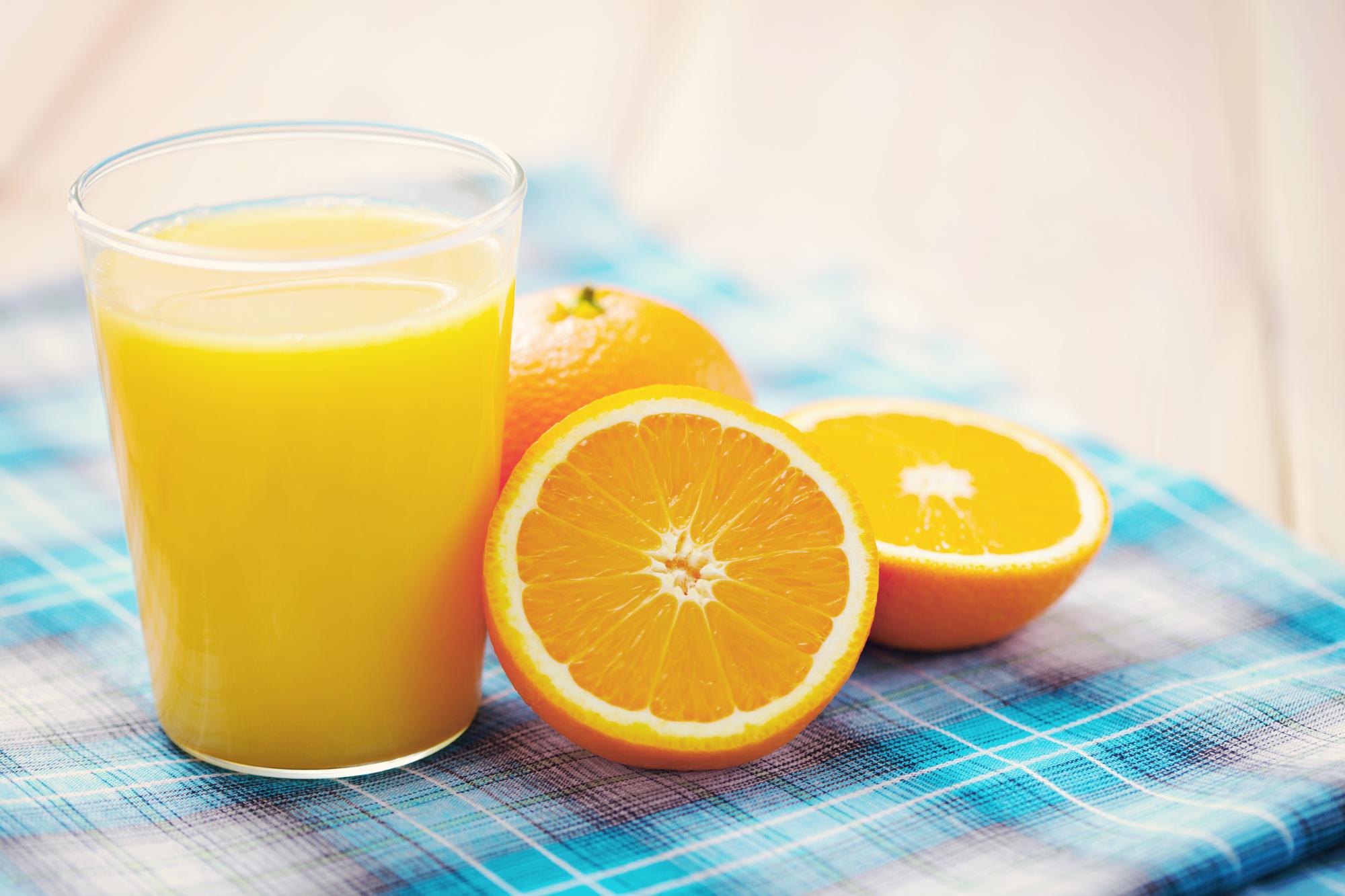 Domácí pomerančový džus recept