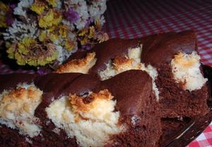 Čokoládový koláč kokoska