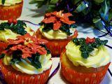 Vánoční hvězda a cesmína  muffiny recept