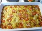 Zapečené krůtí s paprikami a bramborem recept