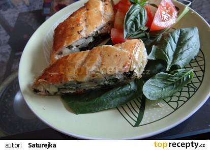 Slaný štrůdl se špenátem a tvarohem recept