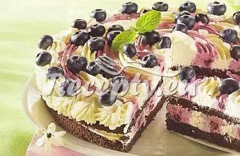 Borůvkový dort recept  dezerty