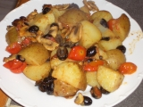 Teplý salát s bramborami, olivami a koprem recept