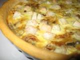 Slaný hruškový koláč s gorgonzolou a ořechy recept