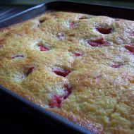 Smetanová jahodová bublanina recept