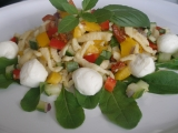 Vydatný salát se spätzlemi recept