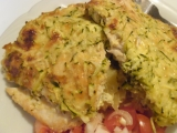Zapečené kuřecí maso na bramborách, pod cuketou recept ...