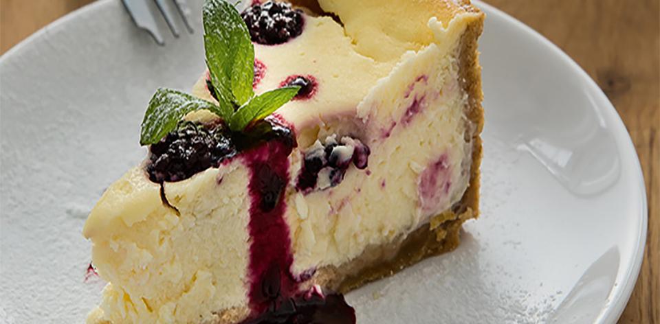 Ostružinový cheesecake