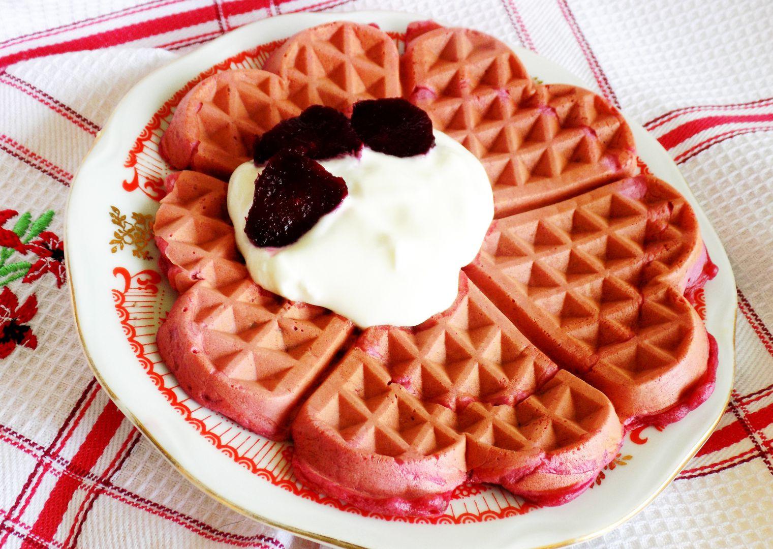 Vafle z červené řepy recept