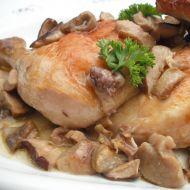 Kuře pečené na hřibech recept