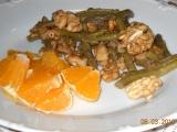 Zelené fazolky s ořechy. recept