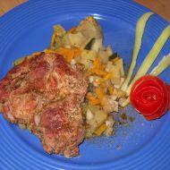 Krkovička s adžikou na zeleninové postýlce recept