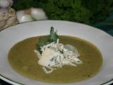 Česnekovo-brokolicový krém s nivou (dietní) recept