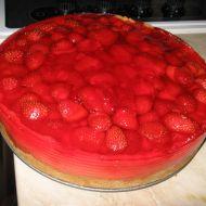 Jahodovo-tvarohový dort recept
