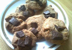 Špaldové sušenky s čokoládou