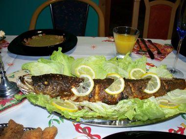 Štika pečená na zelenině