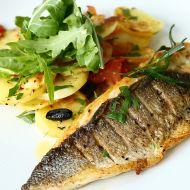 Restovaná ryba s domácími chipsy recept