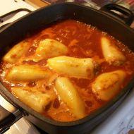 Plněné papriky v rajské omáčce z titanového hrnce recept