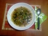 Dietní pórková polévka s houbami recept