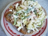 Pórková pomazánka-salát recept