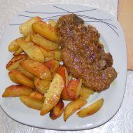 Vepřové steaky s restovanou šalotkou recept