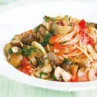 Špagety s houbami recept