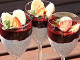 Chia pudink s borůvkami recept