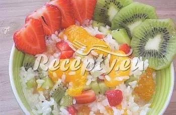 Sladká rýže s ovocem recept  recepty pro děti