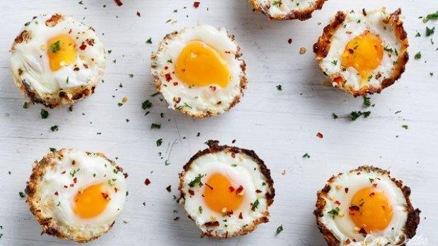 Květákové košíčky s vejci