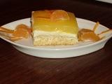 Piškotová buchta s tvarohem a pomerančovým želé recept ...