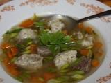 Hovězí polévka s hlívovými nočky recept