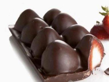Mražené Jahody v čokoládě