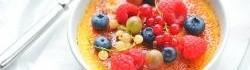 Creme Brulee s letním ovocem