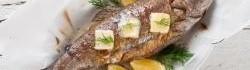 Grilovaný pstruh s koprem a citronem