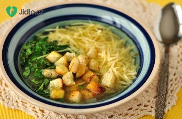Recept Česneková polévka se sýrem