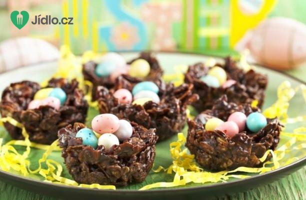 Čokoládová hnízda recept