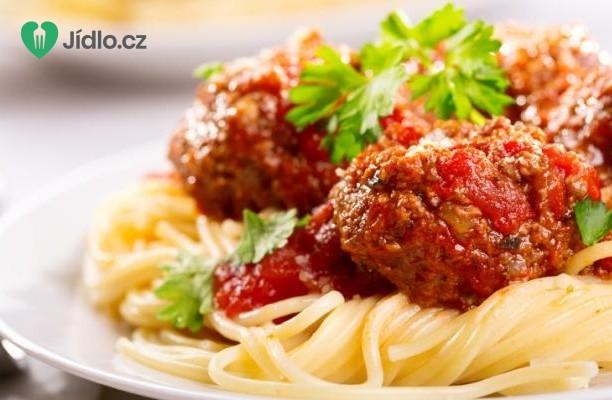 Špagety s masovými koulemi recept