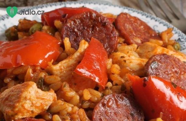 Recept Španělské kuře s chorizem nebo klobásou a rýží
