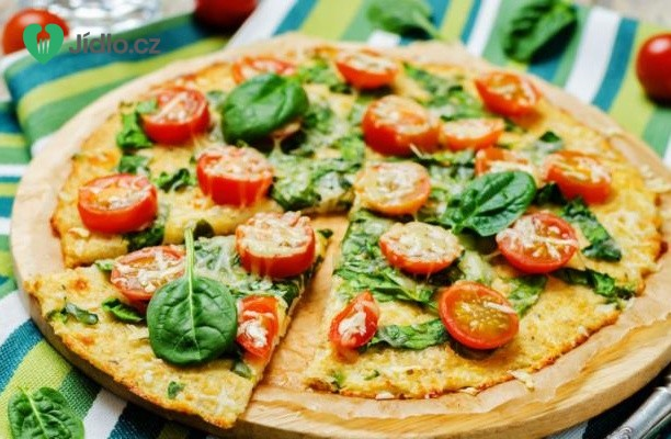 Recept Špenátová pizza