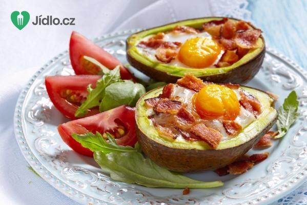 Avokádové vejce se slaninou recept