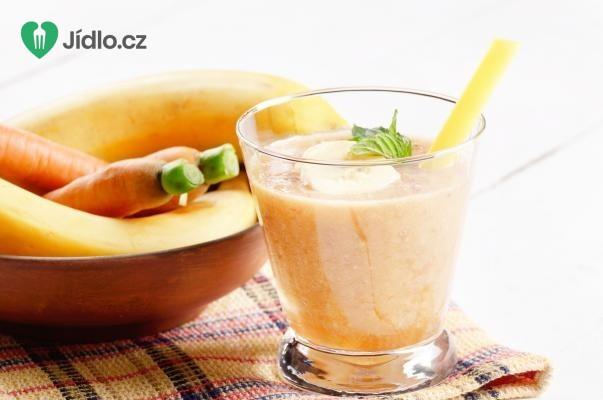 Banánové smoothie s jablkem a mrkví recept